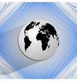 World map web icon on a flat geometric abstract vector