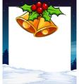 Mistletoe banner vector
