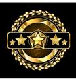 Emblem with golden stars vector