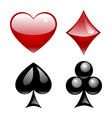 Playing card symbols vector
