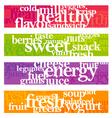 Nutrition words banner set vector