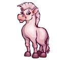 Horse in cartoon style vector