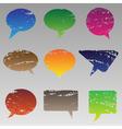 Abstract grunge speech bubbles vector