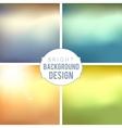 Blur background set vector
