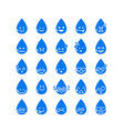 Collection of difference emoticon icon of water vector