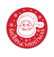 Round christmas greeting with santa face vector