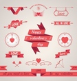 Valentines day set design elements vector