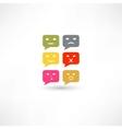 Bubble speech emotions color vector