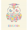 Education wisdom owl concept vector
