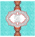 Unusual floral ornamental template with place for vector