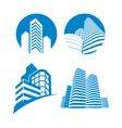 Skyscrapers sign vector