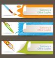 Cutter pen brush objects banner vector