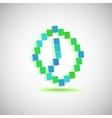Three-dimensional shape  pixel style the clock vector
