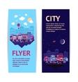 City banner vertical vector