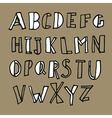 Hand drawn doodles alphabet vector