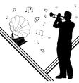 Trumpeter gramophone vector