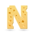 N cheese letter symbol isolated on white vector