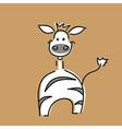 Funny zebra card vector