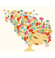 Abstract floral woman vector