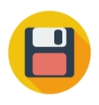 Magnetic floppy disc icon vector