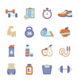 Set of fitness flat icons vector