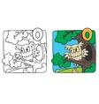 Little owl coloring book alphabet o vector