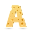 A cheese letter symbol isolated on white vector