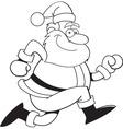 Cartoon santa claus running vector