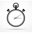 Silhouette simple symbol of stopwatch black icon vector
