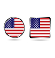 American flag buttons isolated on white vector