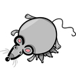 Cartoon mouse mother with babies vector