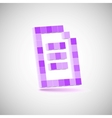 Three-dimensional shape  pixel style the paper vector