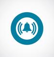Bell icon bold blue circle border vector