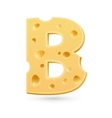 B cheese letter symbol isolated on white vector