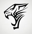 Big cat tribal vector