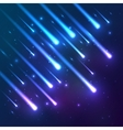 Blue falling stars background vector