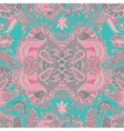 Abstract seamless pattern with abstract flowers vector