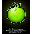 Recycle flyer vector