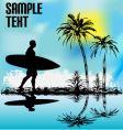 Tropical surfer vector
