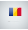 Flag of romania vector