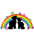 Cats rainbow vector