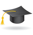 Graduation student hat cap icon vector