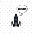 Space shuttle rocket vector