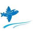 Blue aeroplane vector