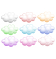 Colourful clouds vector
