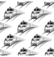 Modern train seamless pattern vector