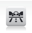 Road crash icon vector