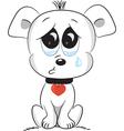 Sad dog vector