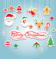 Christmas object decoration vector