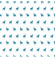 Minimalistic winter blue deer seamless pattern vector